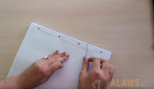 О прошивке документов нитками: как правильно сшить дело в 3 и 4 дырки, схема