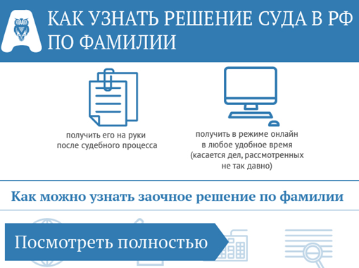 О судебных решениях: как узнать приговор суда по фамилии, поиск онлайн в реестре
