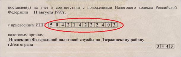 ИНН физического лица: пример, сколько знаков содержится, длина ИНН юр лица