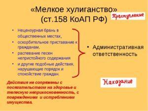 О мелком хулиганстве: что это такое, статья КОАП РФ, ответственность за действия